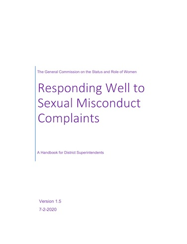 District Superintendent's Sexual Misconduct Handbook
