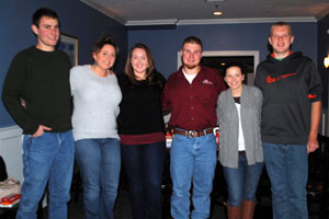 Evy Nickerson with youth group alumni