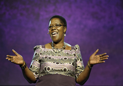 Betty Katiyo addresses the 2012 General Conference.