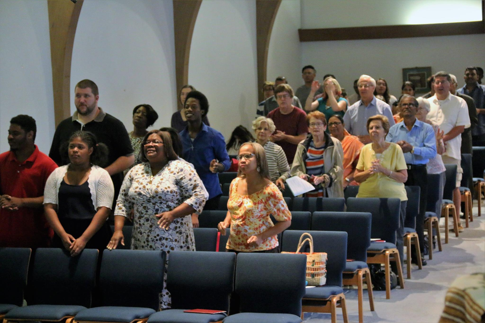 The congregation, which includes 13 nationalities, gathers for worship at Centenary UMC in Metuchen, New Jersey.