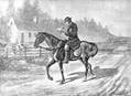 Engraving of a circuit rider. Image courtesy of the General Commission on Archives and History.