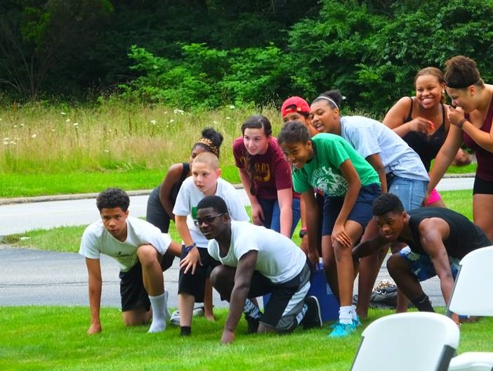 Garfield United Methodist youth gather for a race. Photo courtesy of Garfield UMC, Pepper Pike, Ohio