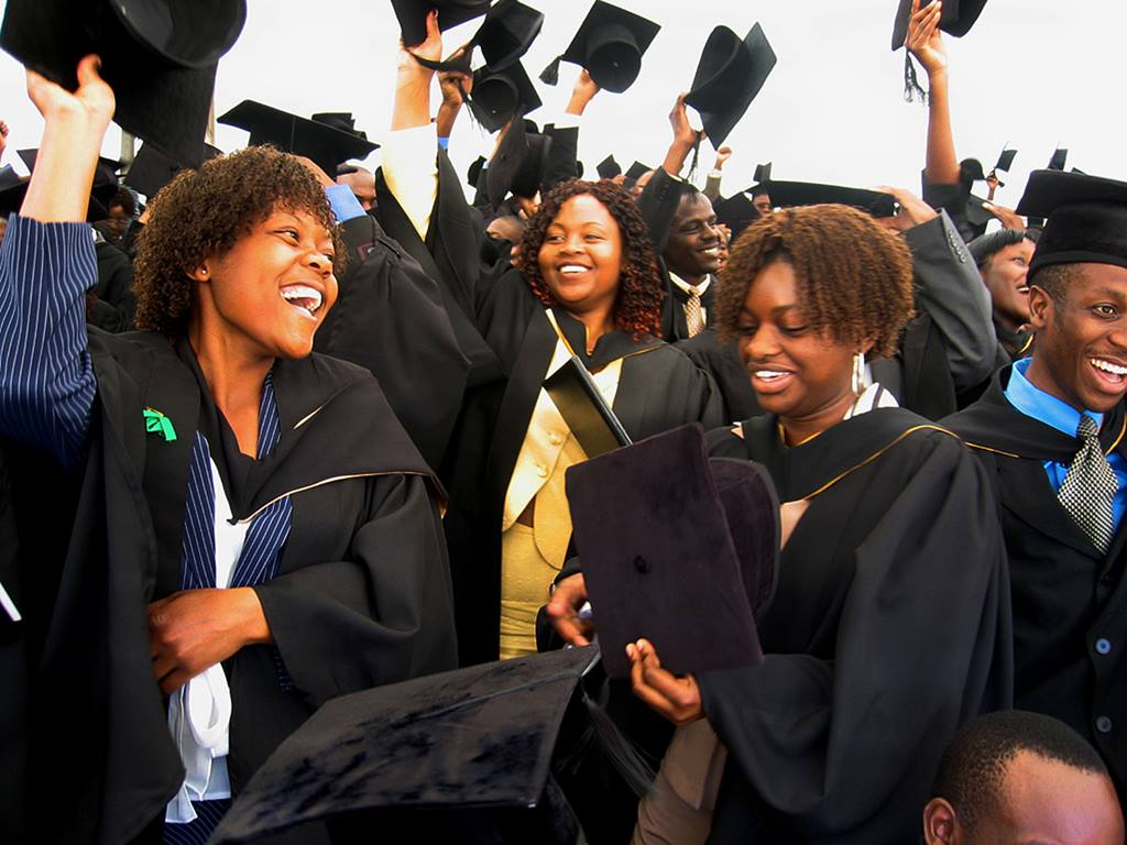 More than 400 students, among them the pioneer class in the health sciences faculty, graduate from United Methodist-supported Africa University in Mutare, Zimbabwe. Photo by Andra Stevens, UMNS.