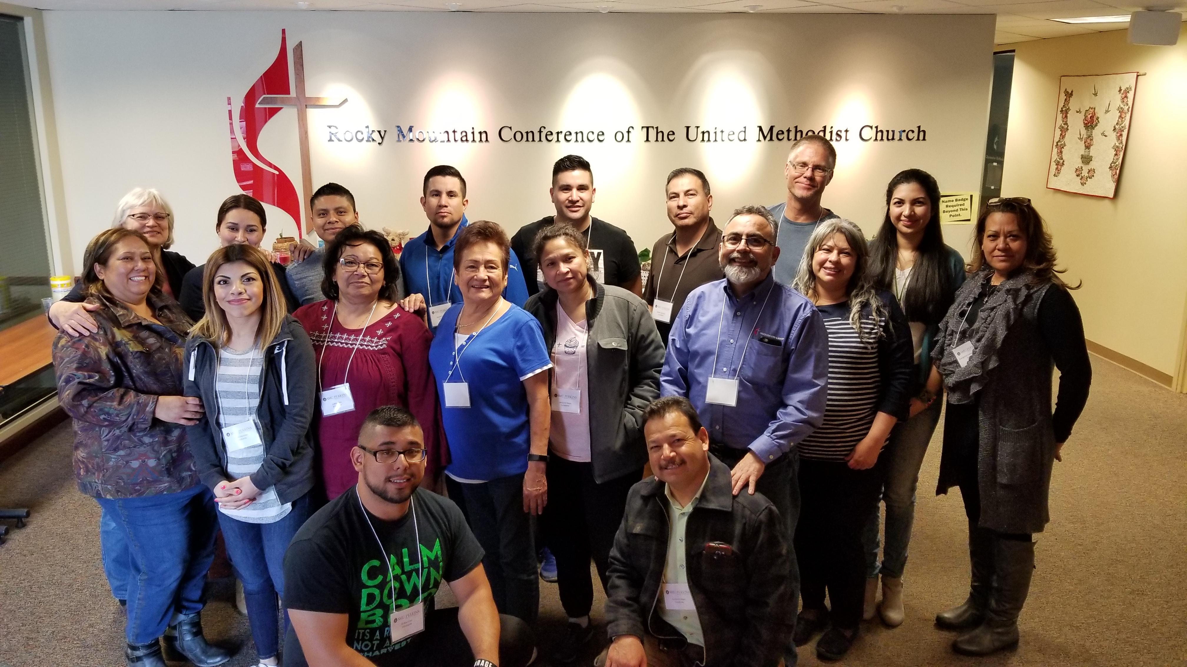 Líderes asistieron el Curso de Estudio híbrido en Denver, Colorado. Foto cortesía de Aileen Jimenez.