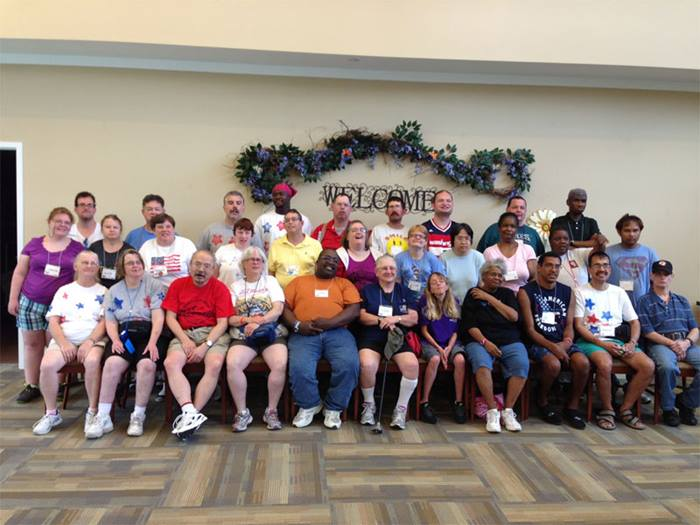 Camp Pecometh in Centreville, Maryland, a residential camp for Deaf adults with special needs.