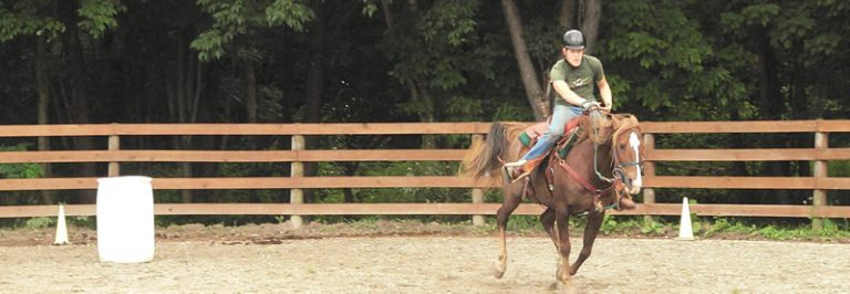 Western riding at Camp Allegheny