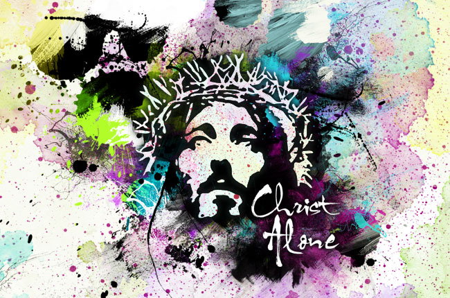 Image of Christ with crown of thorns. Illustration by Stephen Burton, CreationSwap.com.
