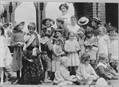 Matron Fitzgerald poses with children of Morgan Memorial Church. Located in the South End district of Boston, Morgan Memorial was also known as the Church of All Nations because of the various ethnic groups and religions that it reached through its mission program. One of its most famous missions was an  industrial cooperative called Goodwill Industries, incorporated in 1905. Image courtesy of Archives and History.