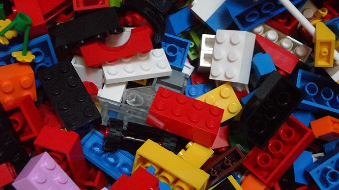 pile of different color legos