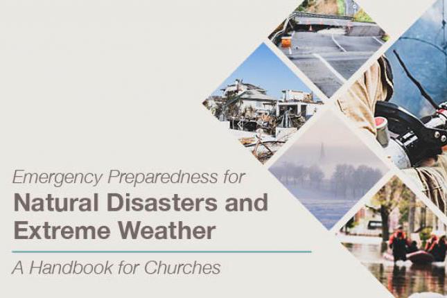 Portada del manual de preparación de emergencias hacia desastres naturales y climas extremos.