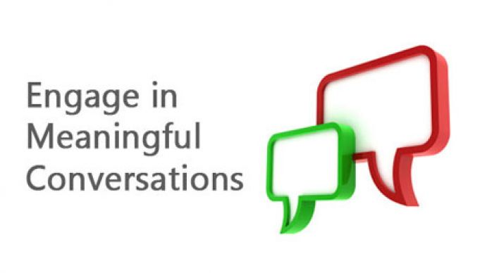 Drop the bullhorn and engage your community in conversation