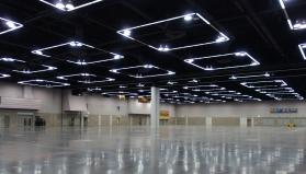 Here's how the Oregon Convention Center will look when the production team arrives. (Photo by Diane Degnan)
