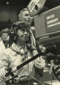 Today's robotic cameras look very different than the camera operated by Dixie Parman during the 1988 General Conference.