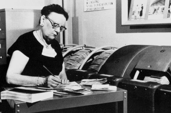 """Ethel Hintz headed the team responsible for the circulation records and files of """"The Methodist Story,"""" a precursor to """"Interpreter."""" The publication was in print from 1957 until 1969."""