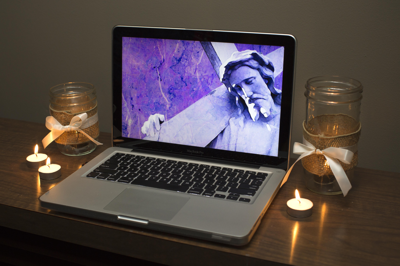 Online engagement ideas for Lent. Photo illustration by Kathleen Barry, United Methodist Communications