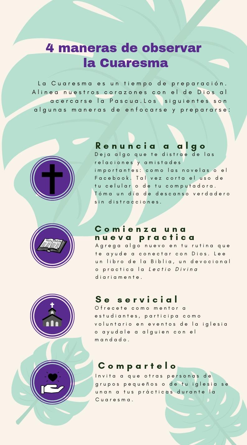 4 maneras de observar la Cuaresma
