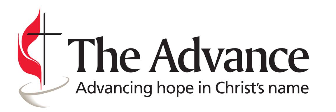 The Advance is an official program of The United Methodist Church for voluntary, designated, second-mile giving. Through The Advance, United Methodist annual conferences, districts, local churches, and organizations, as well as individuals and families, may choose to support mission programs or mission personnel with their financial gifts.  Logo courtesy of Global Ministries.