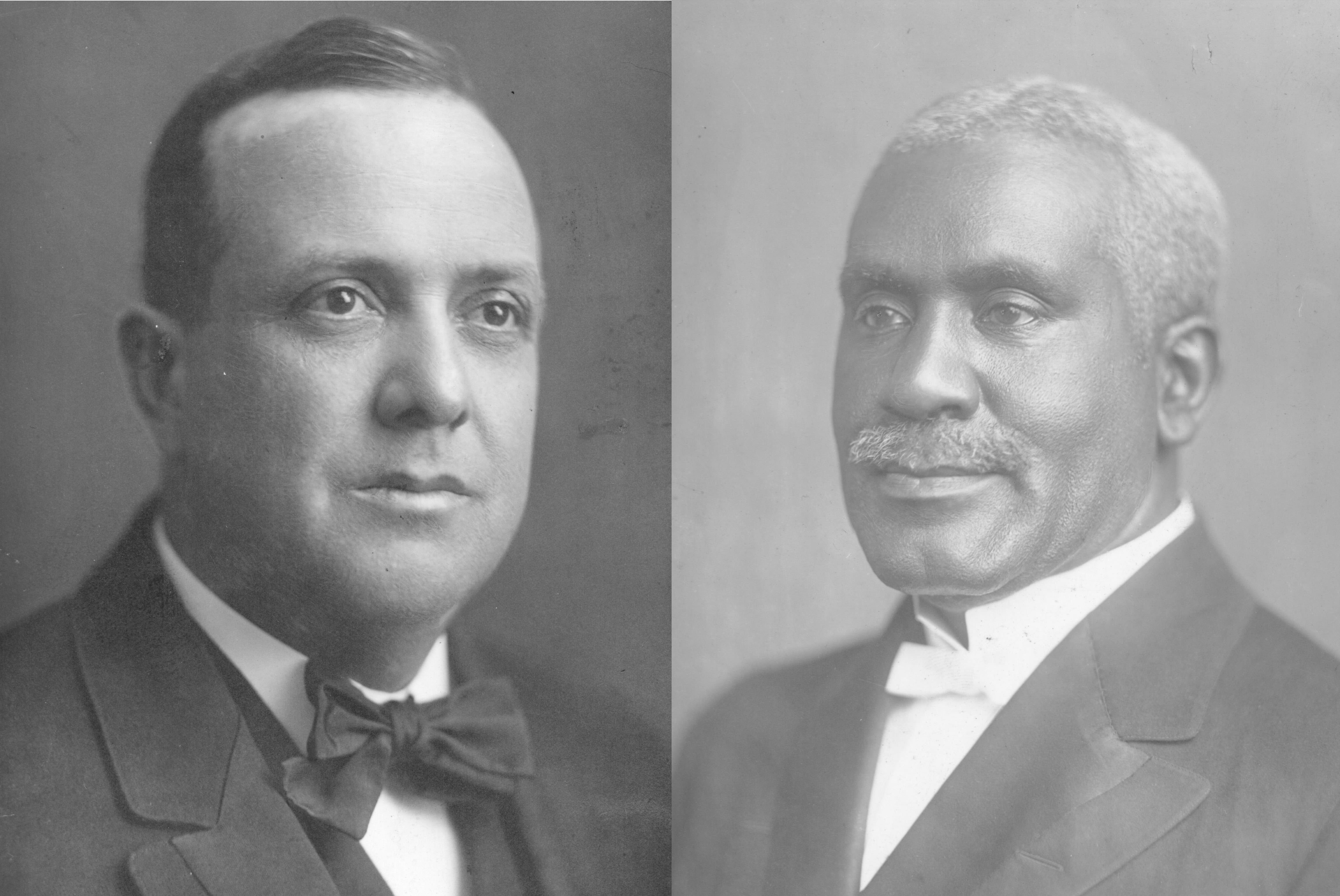 In the early 20th century, two African American bishops were elected in segregated voting at the General Conference — R.E. Jones and Matthew Clair. Photos courtesy of Archives and History.