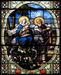 Joseph fled to Egypt with Mary and Jesus.