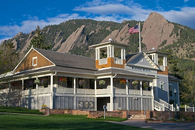 Image of the Dining Hall at Colorado Chautauqua National Historic Landmark. Photo by Jonathan B. Auerbach.