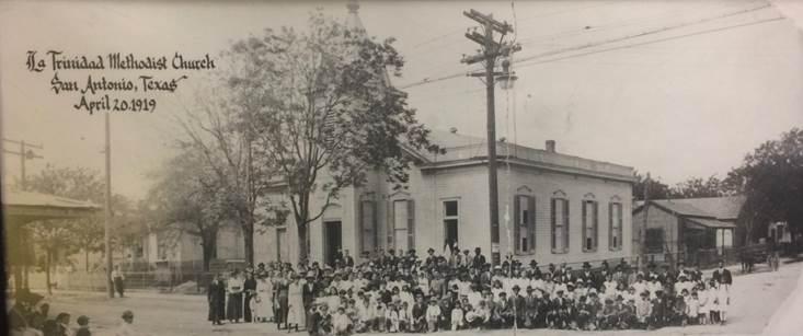 Photo of La Trinidad United Methodist in San Antonio from 1919. Courtesy of La Trinidad United Methodist Church.