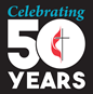 Celebrating 50 years of The United Methodist Church (1968-2018). Logo by United Methodist Communications.