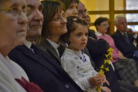 Celebrating Pentecost as a family can be a wonderful experience for adults and children. File photo courtesy United Methodist Communications.