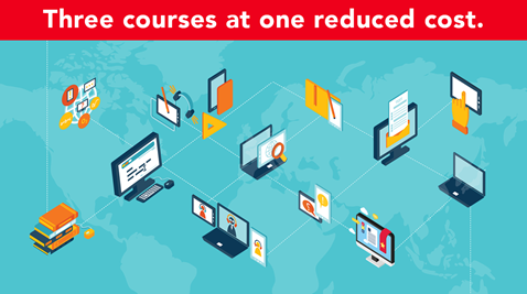 Get three online courses at a reduced price.
