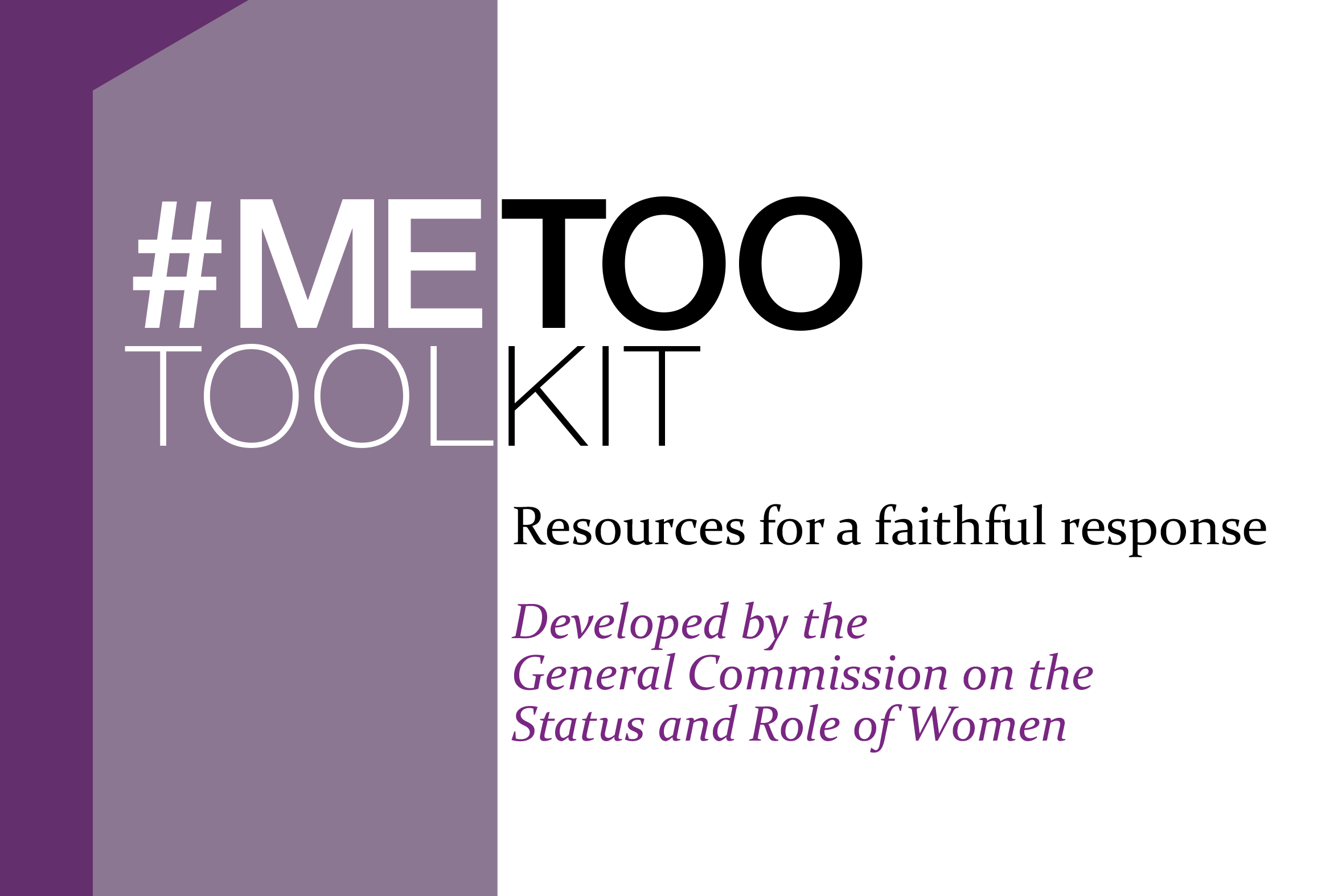 Resources for a faithful response to the problem of sexual misconduct by the Commission on the Status and Role of Women.
