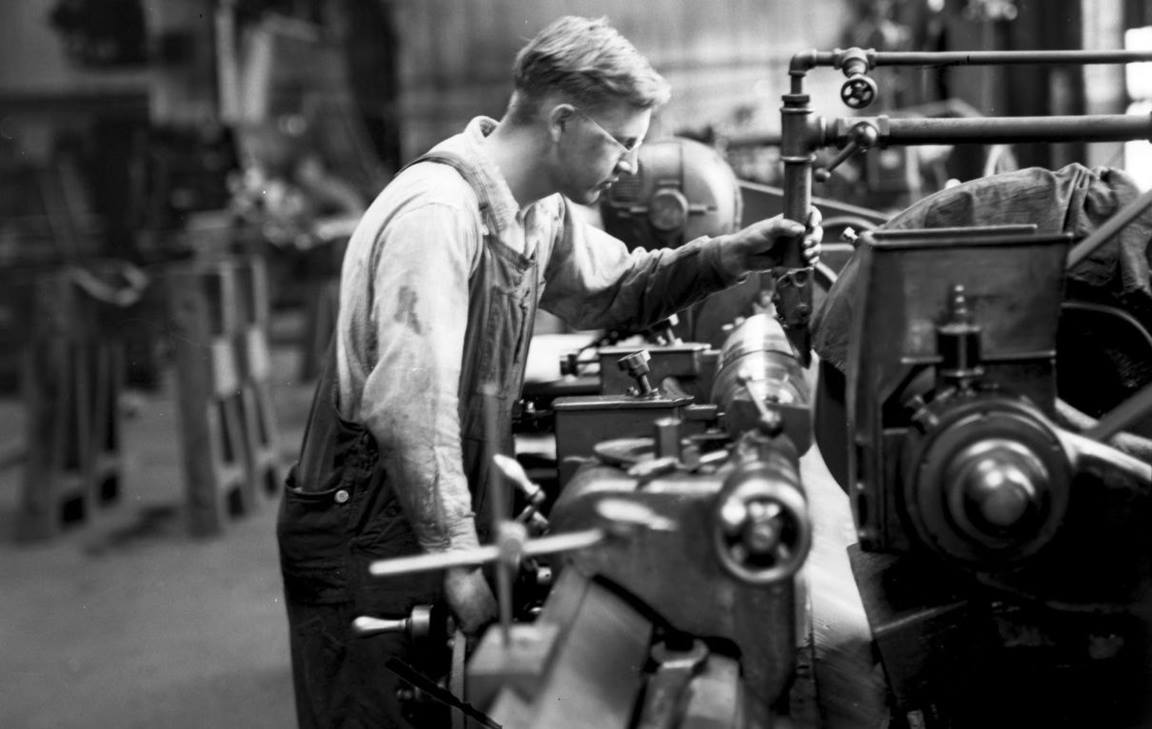 Archival photo of factory worker, courtesy the Rethink Church campaign for workers' rights, 2014.