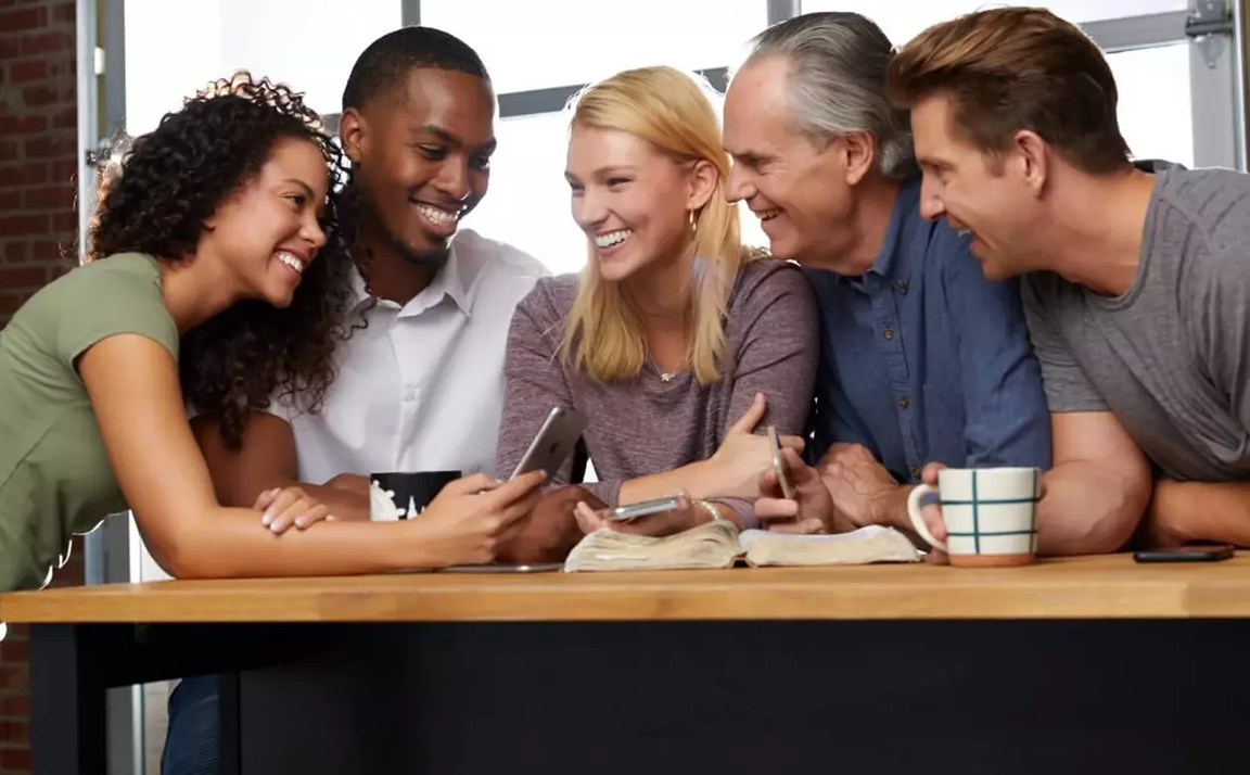 Connected Faith is an ongoing Bible study app that aims to connect you with Scripture, with your community, and with God. Image courtesy of the United Methodist Publishing House.