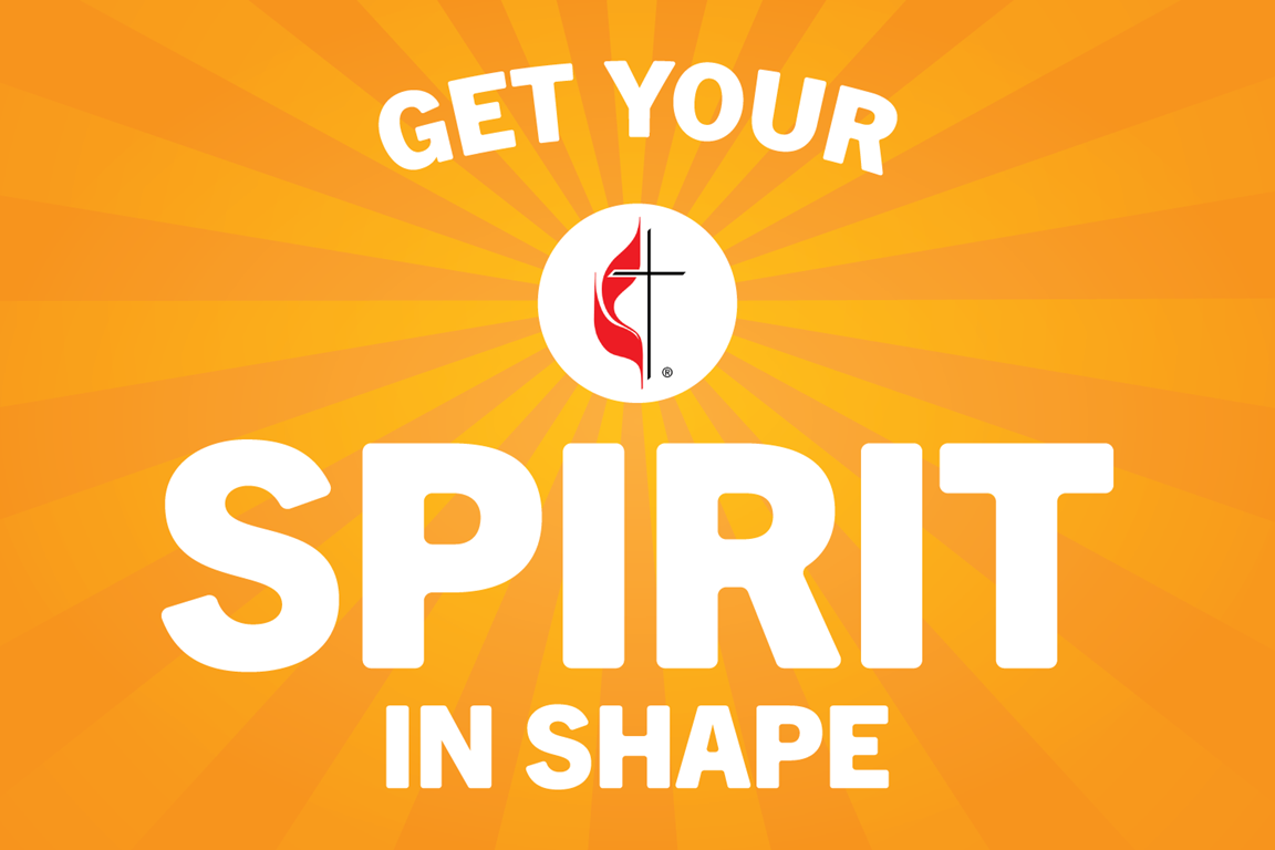 Get Your Spirit in Shape features conversations to help us keep our souls as healthy as our bodies. Logo by Sara Schork, United Methodist Communications.