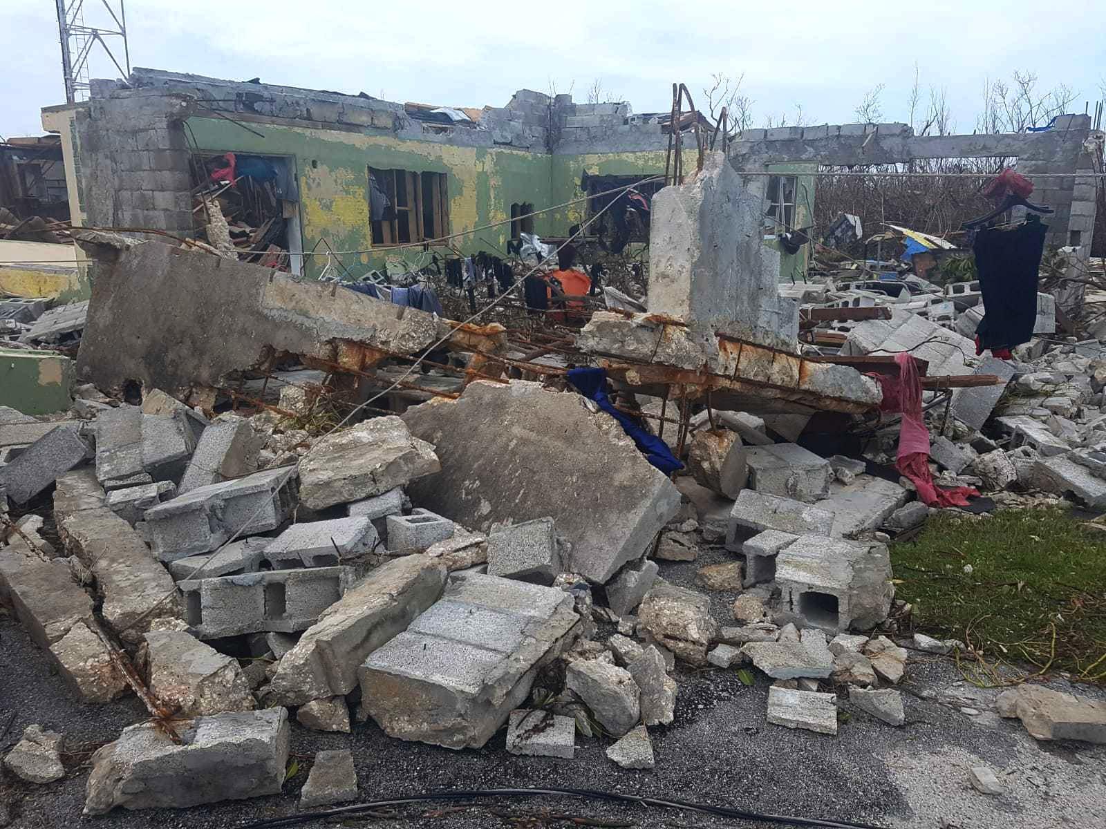 Destruction left by Hurricane Dorian, Sweetings Cay on Grand Bahama Island. Courtesy of HK Team Photos.