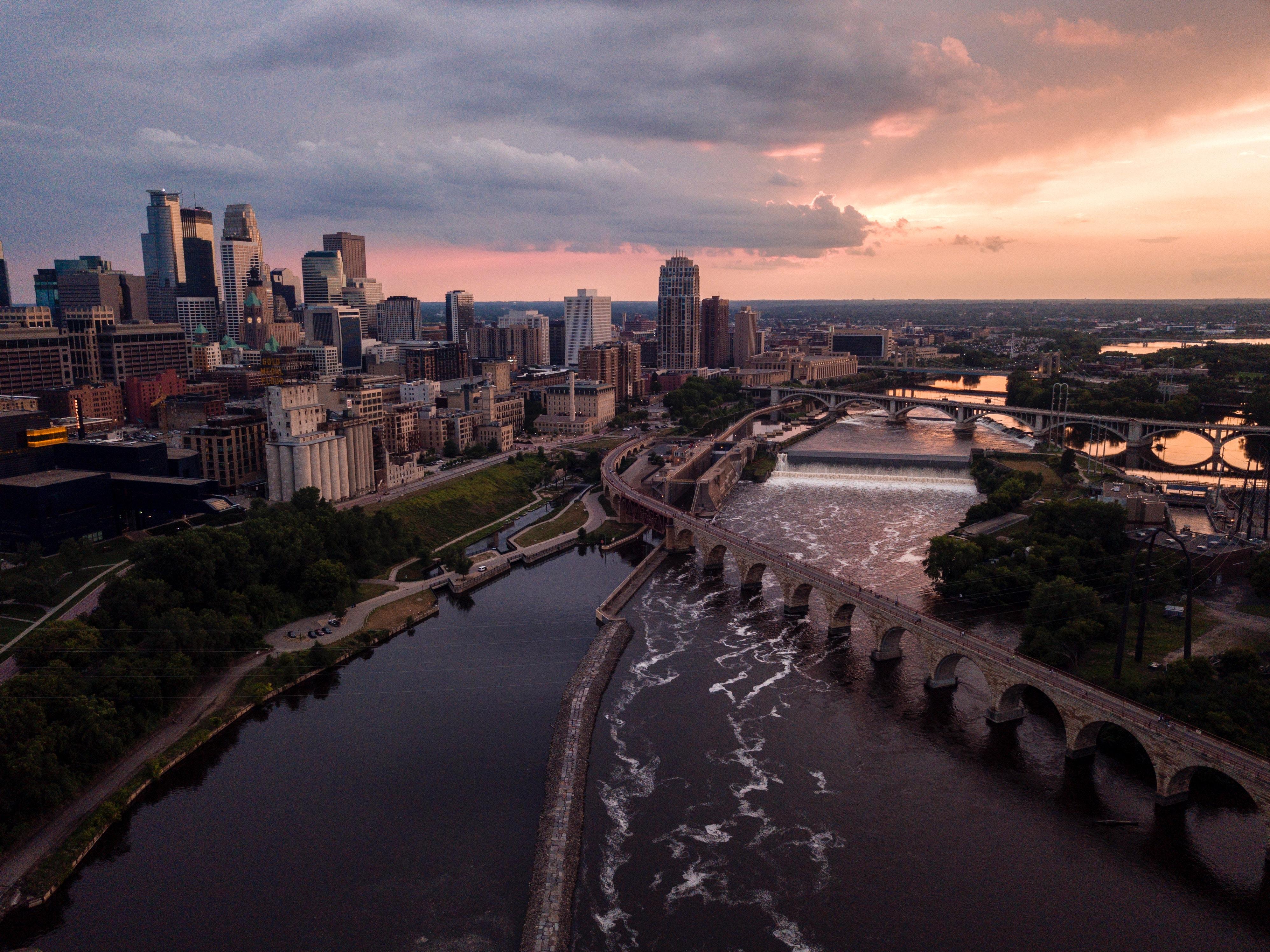Aerial view of Minneapolis. Photo by Nicole Geri on Unsplash.com.