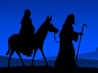 Joseph and Mary traveled some difficult roads as the earthly parents of Jesus. Photo courtesy of Beliefnet.com.