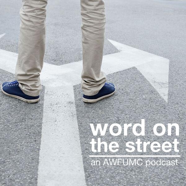"""Word on the Street"" podcast promo image. Courtesy of Alabama-West Florida Conference."