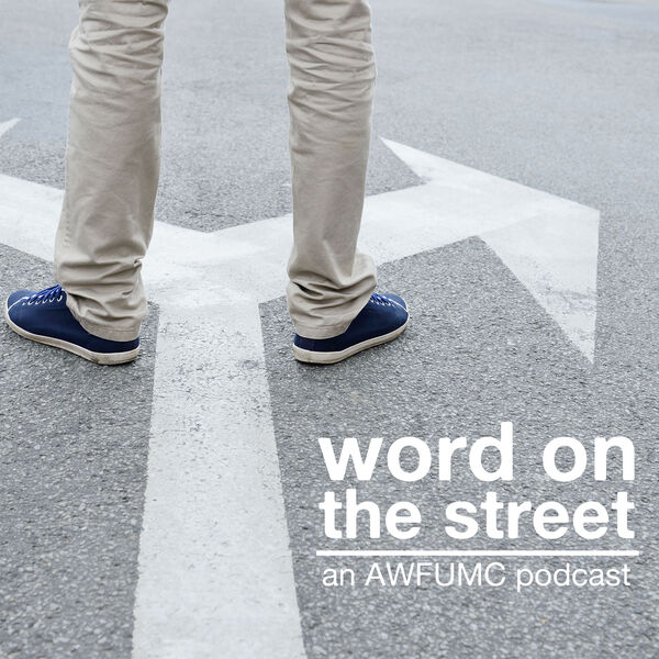 """Word on the Street"" podcast promo image. Courtesy of Alabama-West Florida Conference."
