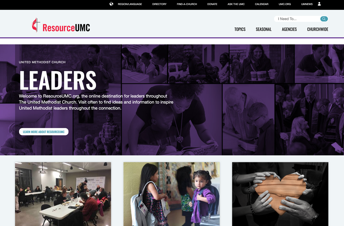 United Methodist Communications has launched ResourceUMC.org, a new leadership-focused website developed as a centralized portal to equip leaders across the globe with helpful information, tools and multilingual assets.