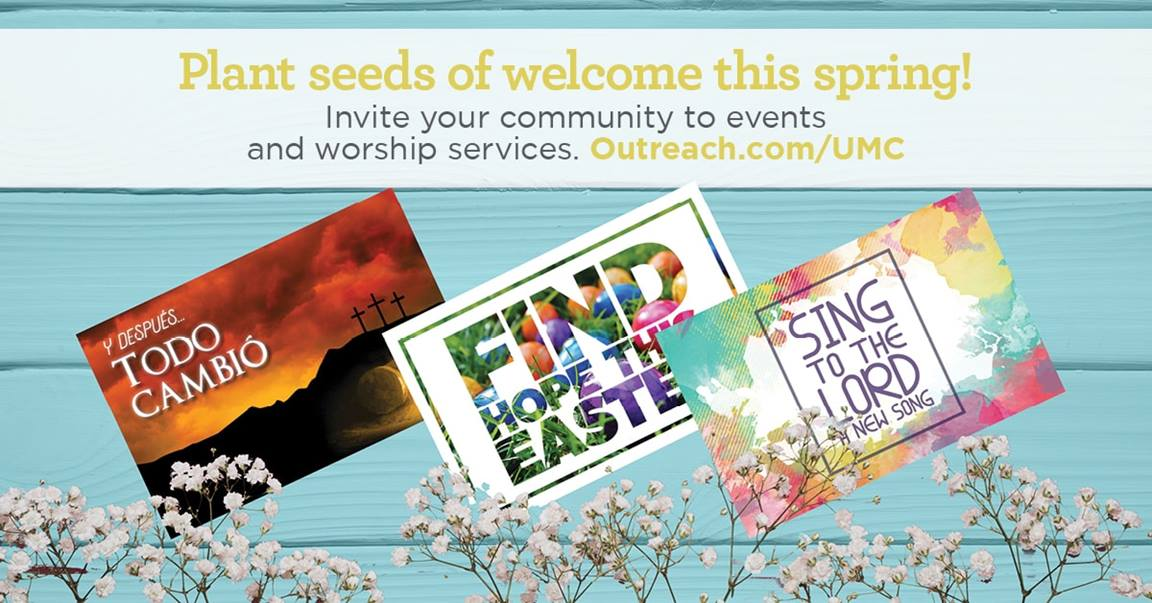 Local churches are encouraged to plant seeds of welcome this spring with a collection of customizable Easter outreach tools, available in English and Spanish, developed to invite the community to events and worship services.
