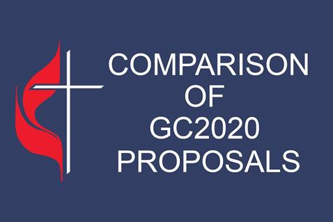 Chart summarizes and compares proposals to General Conference 2020 about the future of The United Methodist Church. Graphic by Laurens Glass, UM News.