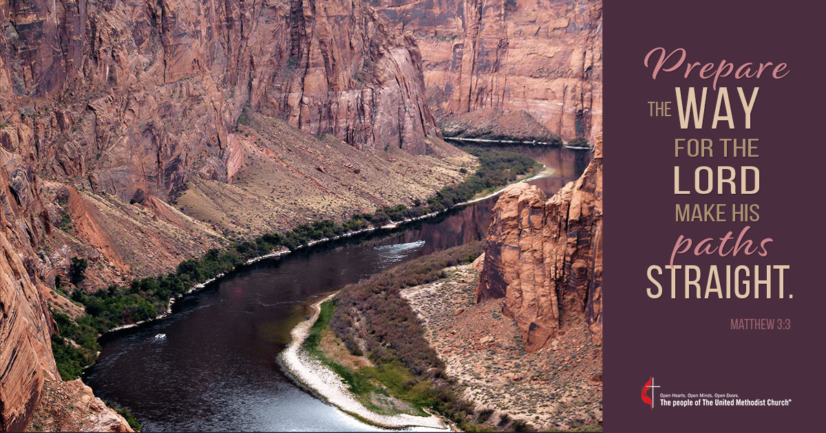Colorado River image by Brigitte Werner, Pixabay. Illustration by Cindy Caldwell, United Methodist Communications.