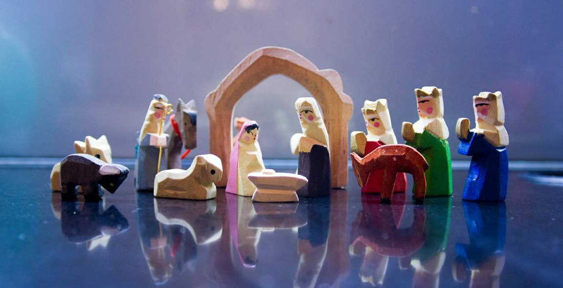 Christmas decorations, like this simple nativity scene, help us celebrate the season. Photo by Freely Photos.