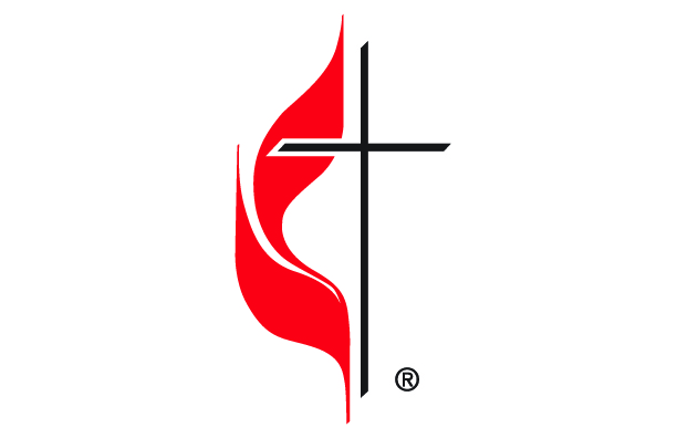 2019 new logos of the cross and flame with extra space in color. Courtesy of United Methodist Communications.