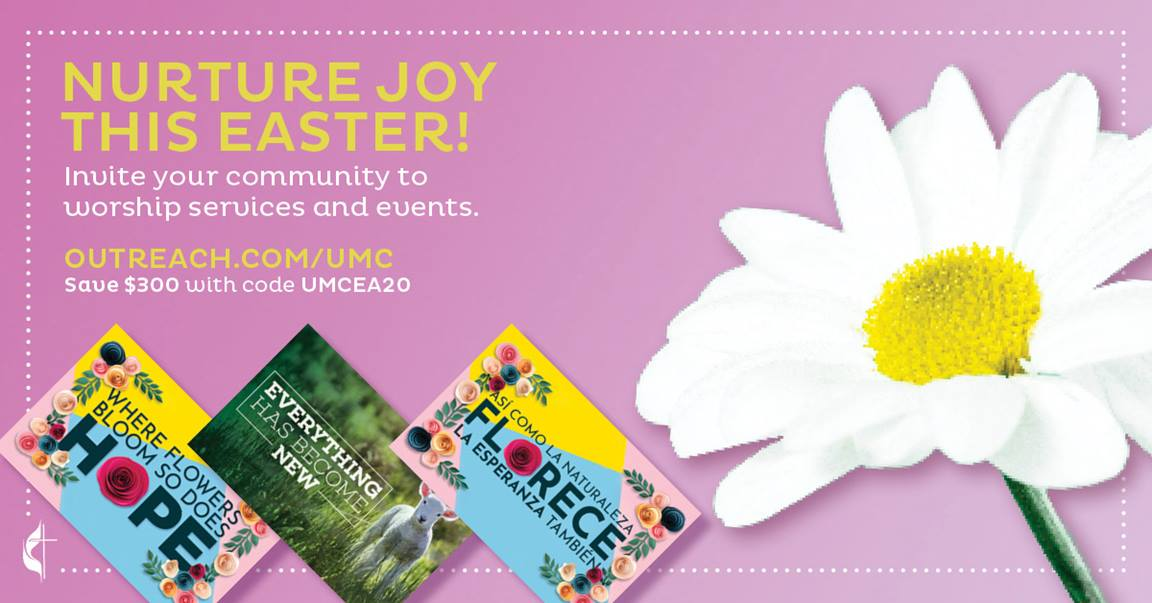 2020 Easter Outreach resources. Courtesy of United Methodist Communications.