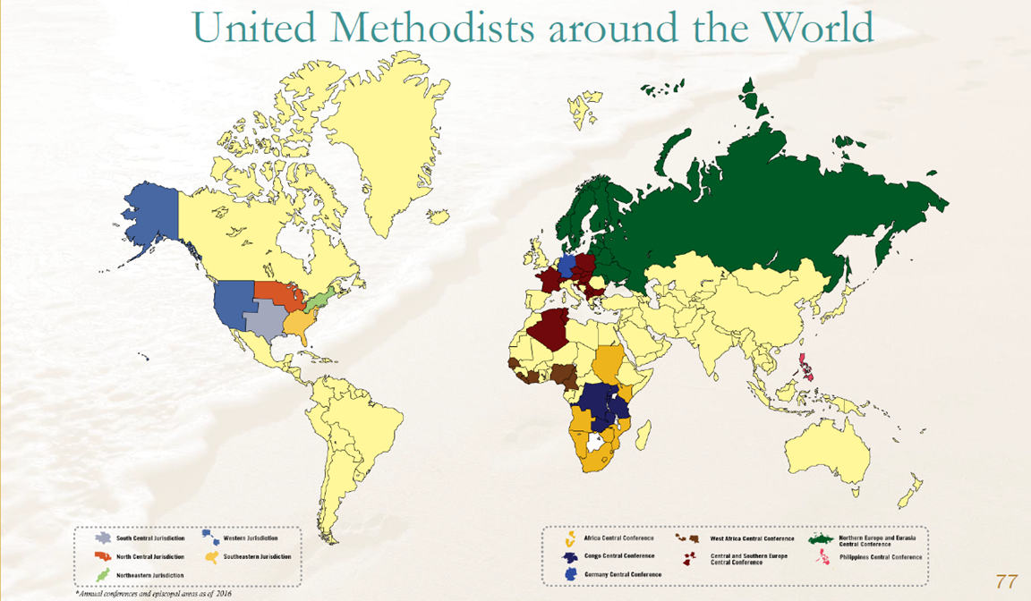 Metodistas Unidos a través del mundo