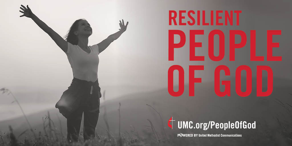 """During a time of chaos and confusion, the """"People of God"""" campaign is meant to serve as a reminder of who we know we have been at our best -- the spirit-filled, resilient, missional, connected, faithful, diverse and deeply-rooted people of God called The United Methodist Church.  We persevere through trials and face tomorrow with God at our side. Image by United Methodist Communications."""