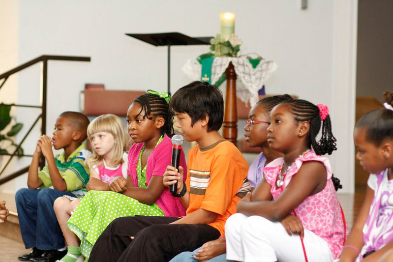 Separated by a global pandemic, children miss their friends and teachers from church as well as school. A UMNS file photo by Kathy L. Gilbert, UM News.