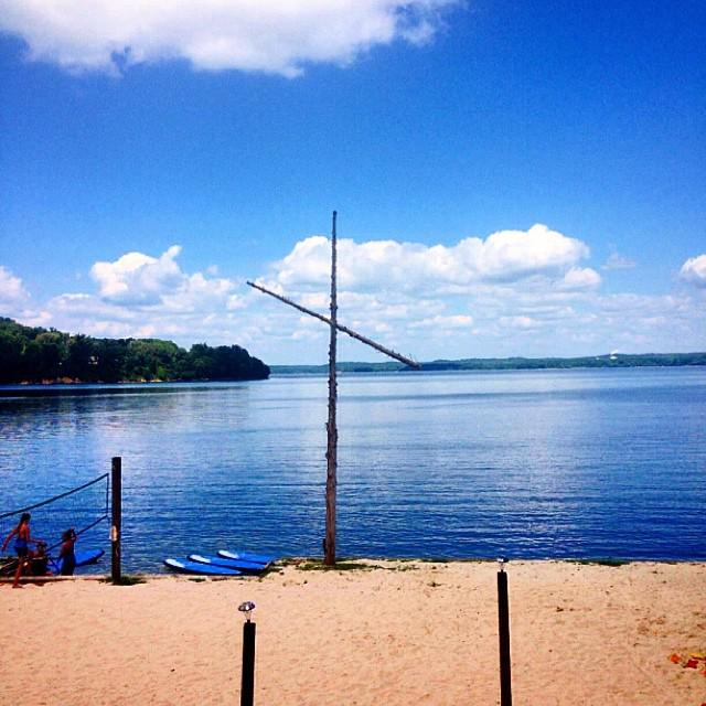 Lakeshore United Methodist Camp and Retreat Center waterfront. Courtesy of Lakeshore.