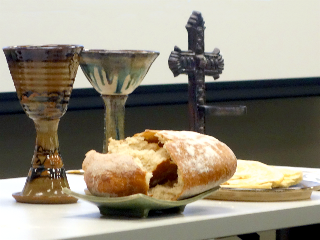 Communion at a meeting of the Connectional Table in Chicago, Illinois. Photo by Diane Degnan, United Methodist Communications.
