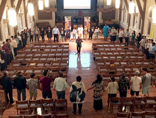 As our church continues to grapple with what it means to be a church in mission with all people, crossing boundaries of gender, race, immigration status, sexual orientation, age, ability, culture and ideology, the Connectional Table seeks to listen and engage these conversations. Image courtesy of the Connectional Table.